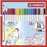 STABILO Pen 68, brush, 24 ks, puzdro