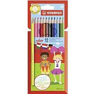 STABILO color 12 ks kartónové puzdro + neón farby - Pastelky