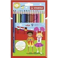 STABILO color 18 ks kartónové puzdro + neón farby - Pastelky