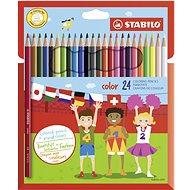 STABILO color 24 ks kartónové puzdro + neón farby - Pastelky