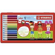 STABILO color 12 ks kovové puzdro - Pastelky