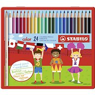 STABILO color 24 ks kovové puzdro - Pastelky