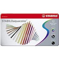 STABILOaquacolor 12 ks kovové puzdro - Pastelky