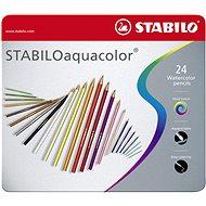 STABILOaquacolor 24 ks kovové puzdro - Pastelky