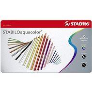 STABILOaquacolor 36 ks kovové puzdro - Pastelky
