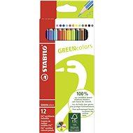 STABILO GREENcolors 12 ks puzdro - Pastelky