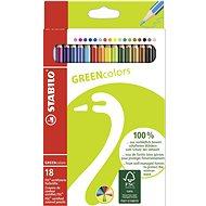 STABILO GREENcolors 18 ks puzdro - Pastelky