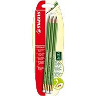 STABILO GREENgraph grafitová tužka s gumou, 3 ks blister - Ceruzka