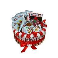 Kinder jednoposchodová torta so sviečkou 24 cm - Darčekový box