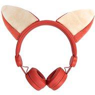 Káblové slúchadlá Forever AMH-100 Foxy 3,5 mm mini jack s magnetickými prvkami, oranžové - Slúchadlá