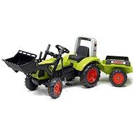 Falk Traktor šliapací Clas Arion 430 s nakladačom a vlečkou - Šliapací traktor