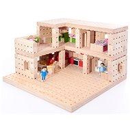 Drevená stavebnica Buko – Poschodový dom, 302 dielov - Drevená stavebnica