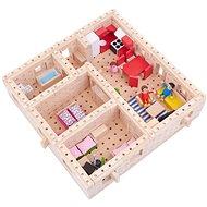 Drevená stavebnica Buko – Veľký dom pôdorys, 298 dielov - Drevená stavebnica