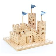 Drevená stavebnica Buko – Malý hrad 295 dielov - Drevená stavebnica