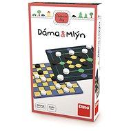 Dino dáma a mlyn – cestovná hra - Stolová hra