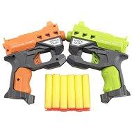 Teddies Pištoľ 2 ks, 12 cm na penové náboje + 6 ks nábojov