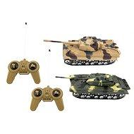 Teddies Tank RC 2 ks, 25 cm tanková bitka - RC tank na ovládanie