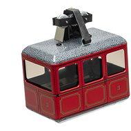 Kovap Lanovka červená na kľúčik - Kovový model