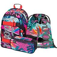 BAAGL Set 3 Skate Fresh: batoh, peračník, vrecko - Školská súprava