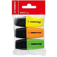STABILO BOSS MINI 3 ks MINIpop (žltá, zelená, oranžová)