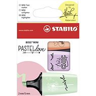 STABILO BOSS MINI Pastellove 3 ks puzdro (zelená, oranžová, fialová)