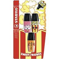 STABILO BOSS MINI Sweet Friends 3 ks blister (ružový, žltý, oranžový)