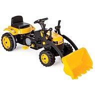 Traktor šliapací s prednou lyžicou žltý