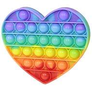 Teddies Bubble pops – Praskajúce bubliny silikón antistresová spol. hra srdce dúha - Spoločenská hra