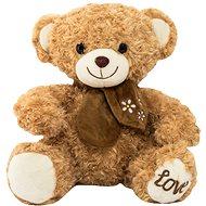 Teddies Medveď sediaci s mašľou 2 farby - Plyšová hračka