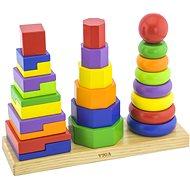 Drevená pyramída 3v1 - Drevená hračka