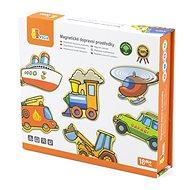 Drevená hračka Drevené magnety, 20 ks - dopravné prostriedky