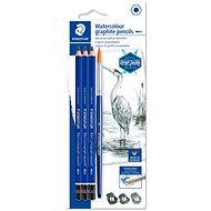 Staedtler Design Journey Lumograph, šesťhranná akvarelová - sada, 3 tvrdosti so štetcom - Ceruzka