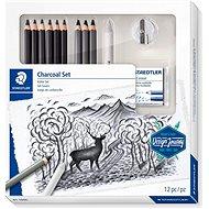 Staedtler Design Journey Lumograph uhlíková – sada 12 ks s gumou a strúhadlom - Ceruzka