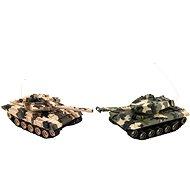 Teddies Tank RC 2 ks 25 cm tanková bitva + dob. pack 27 MHZ a 40 MHz maskáč
