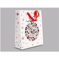 Taška na darčeky vianočná banka, rozmer: – 32 × 26 × 10 cm