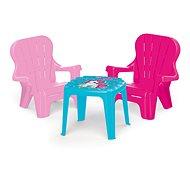 Dolu Detská záhradná súprava stôl a 2 stoličky jednorožec - Detský nábytok