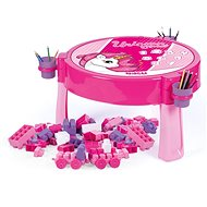 Detský nábytok Dolu Hrací stolík 2 v 1 s kockami jednorožec