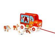 Scratch Nákladiak so zvieratkami Cirkus - Drevená hračka