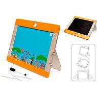 Scratch Drevená tabuľa na kreslenie Safari obojstranná - Drevená hračka