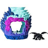 Ako vycvičiť draka 3 Svietiaca dračia jaskyňa s figúrkou Bezzubky - Herná sada