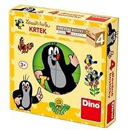 Drevené kocky Dino Krtko - Dřevěné kostky