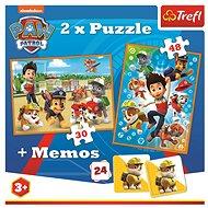 Puzzle 2 v 1 + pexeso Tlapková patrola - Puzzle