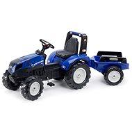 Traktor šliapací New Holland T8 modrý s prívesom - Šliapací traktor