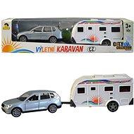 MaDe Auto s karavanom, 26 cm, pull-back - Auto