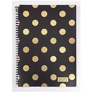 Romantic Nature Dots Gold - Zápisník