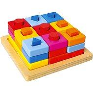 Vkládací tvary na desce barevné - Vkladačka