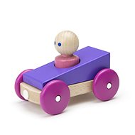 Magnetické autíčko TEGU – Purple Racer - Drevená hračka