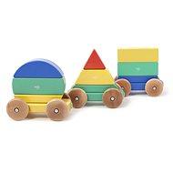 Magnetický dúhový vláčik TEGU – Big Top - Drevená hračka