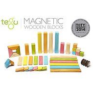Drevená stavebnica Magnetická stavebnica TEGU Tints – 42 dielov - Dřevěná stavebnice