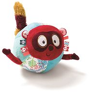 Lilliputiens – Lemur Georges – loptička - Textilná hračka